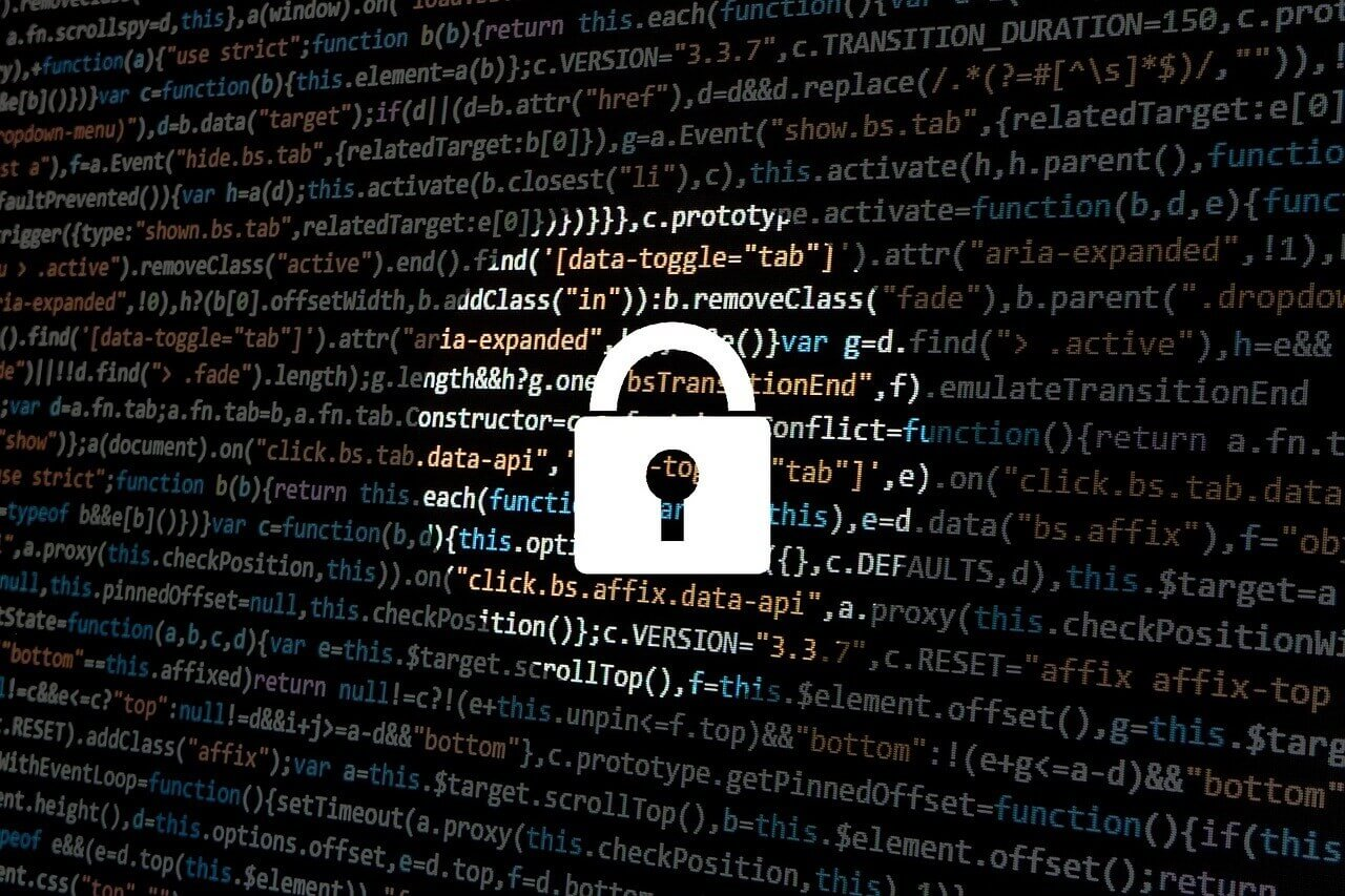 code with security lock in spotlight