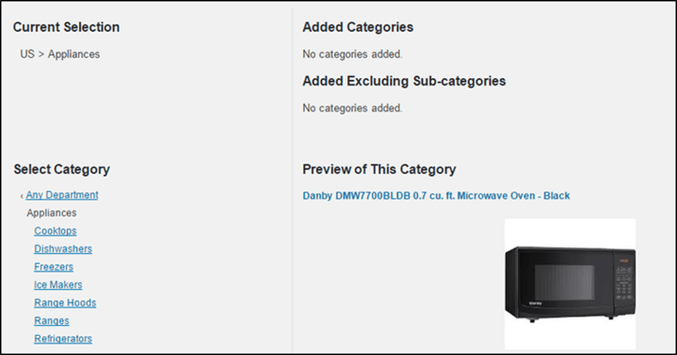setting options for connecting Amazon and WordPress
